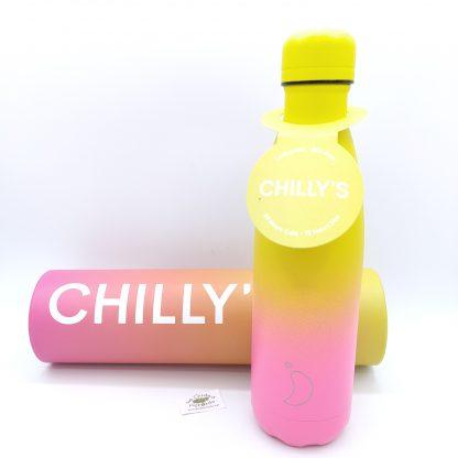 Comprar botella chillys degradada amarilla rosa oviedo