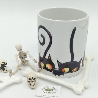 Comprar taza gatitos halloween