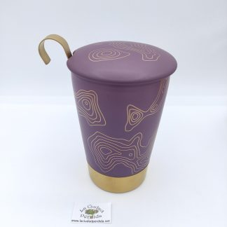 Comprar taza con filtro dorada lila en oviedo