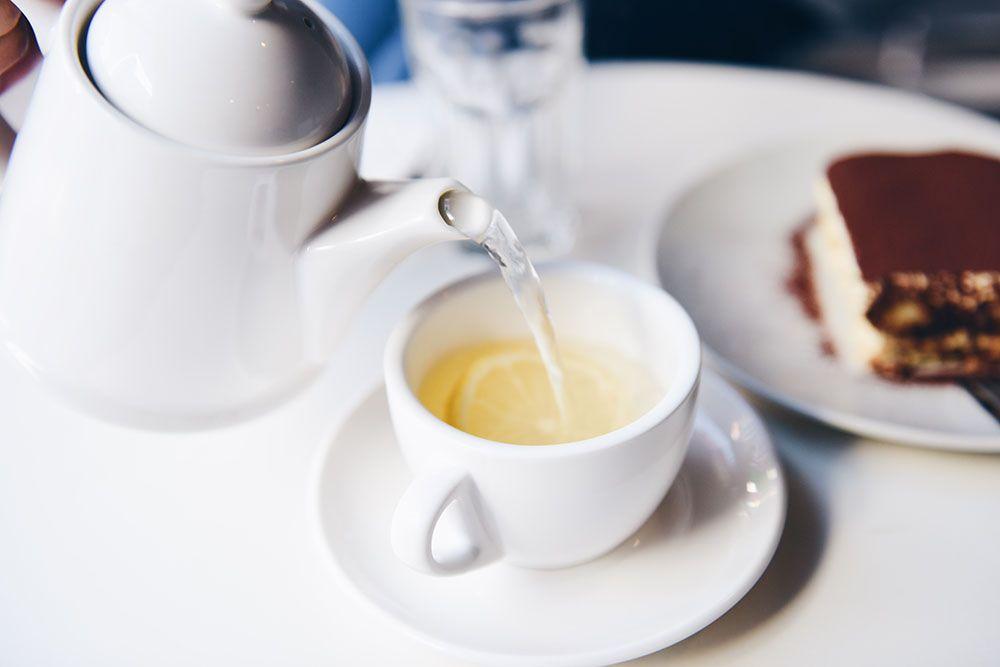 Ejemplo de una taza de té bien hecha