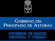 Logotipo Consejería de Empleo, industria y turismo del Principado de Asturias